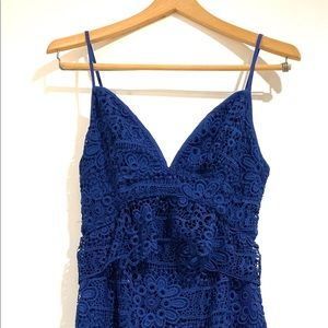 Royal blue crochet GUESS dress